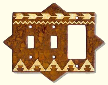 Large photo of rustic switch plate #F2CR