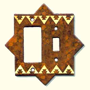 Large photo of rustic switch plate #FCR
